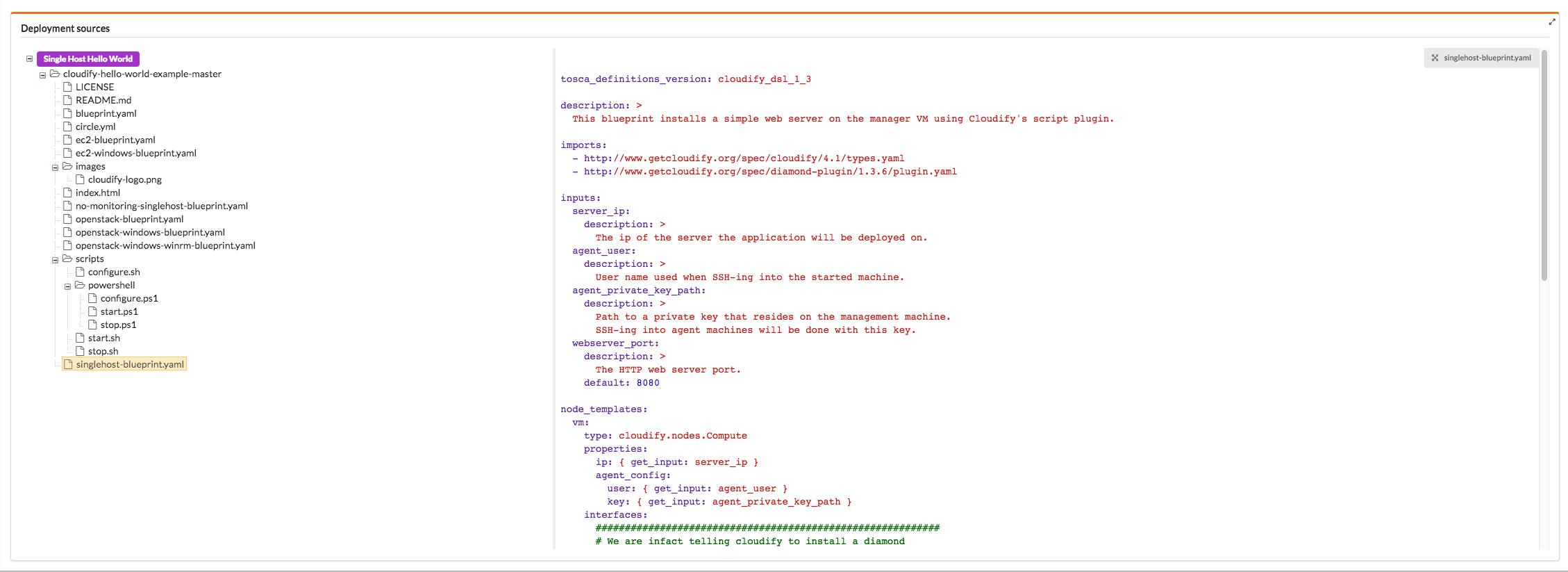 Default Widgets Reference | Cloudify Documentation Center