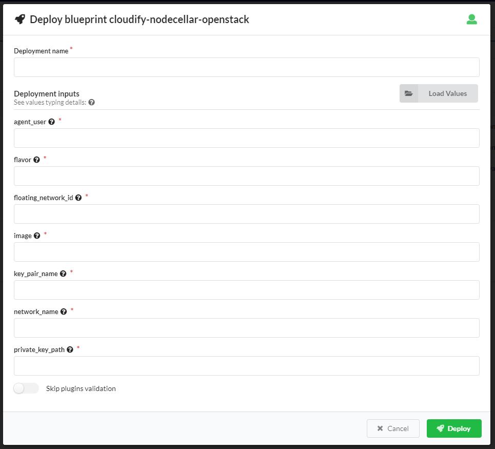 Creating a Deployment | Cloudify Documentation Center